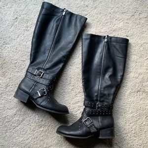 Torrid Wide Calf Knee High boots 9 Faux Leather